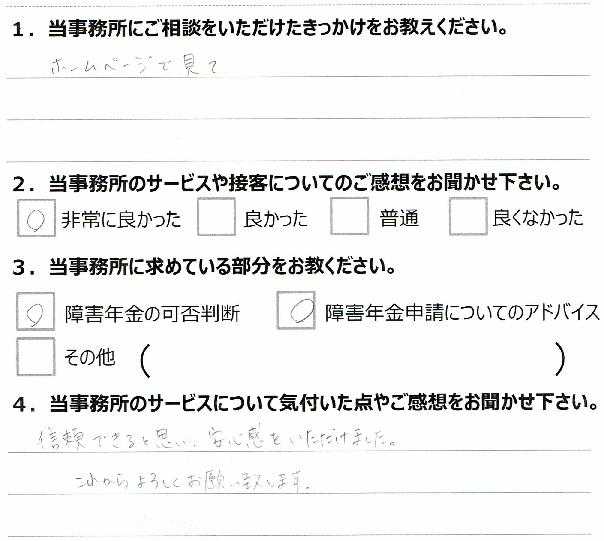 浜松市 20代 男性 精神疾患