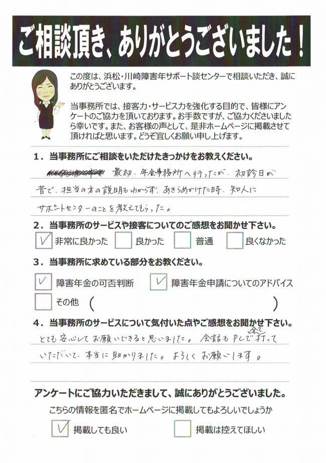 浜松市 女性 50代 感音性難聴