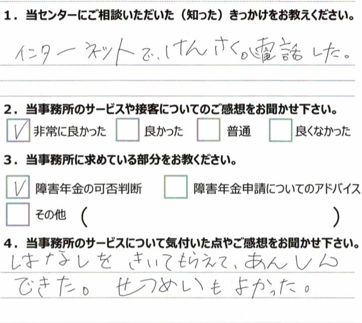 1年3月 川崎 知的障害 30代女性