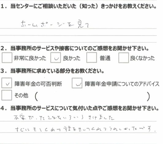 1年3月 うつ病(50代男性)西山昌司