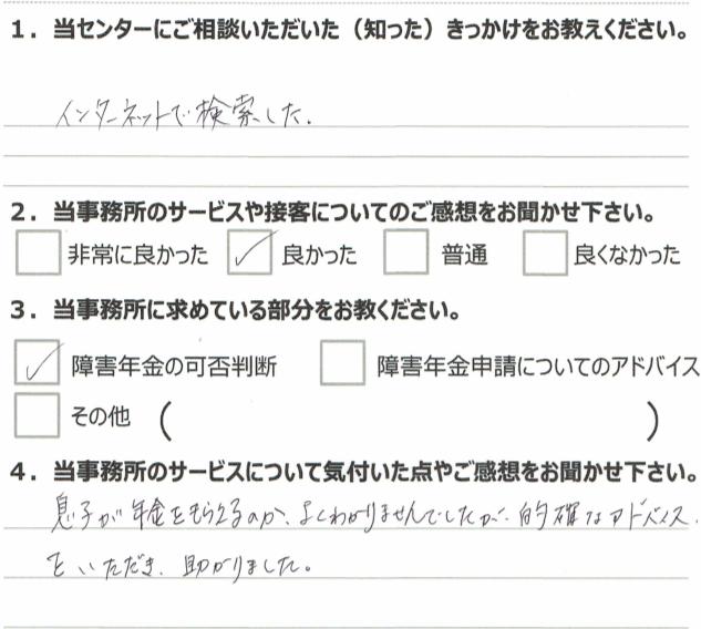 1年3月 細菌性髄膜炎(20代男性)鈴木嘉大