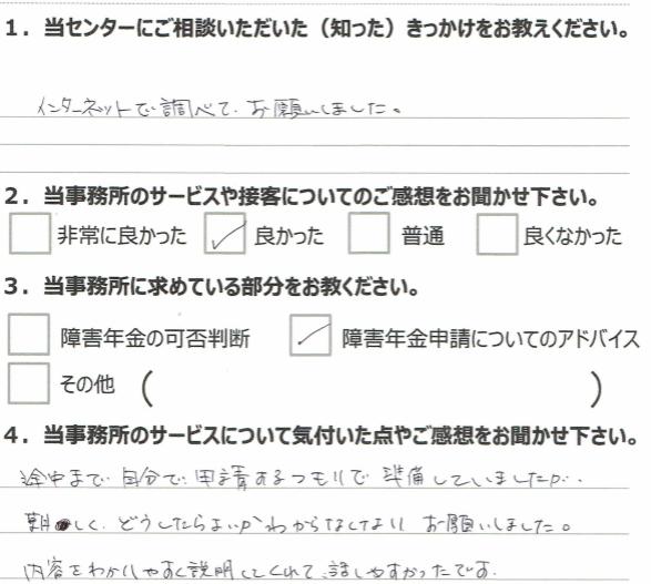 1年4月 広汎性発達障害(20代女性)鈴木裕里恵