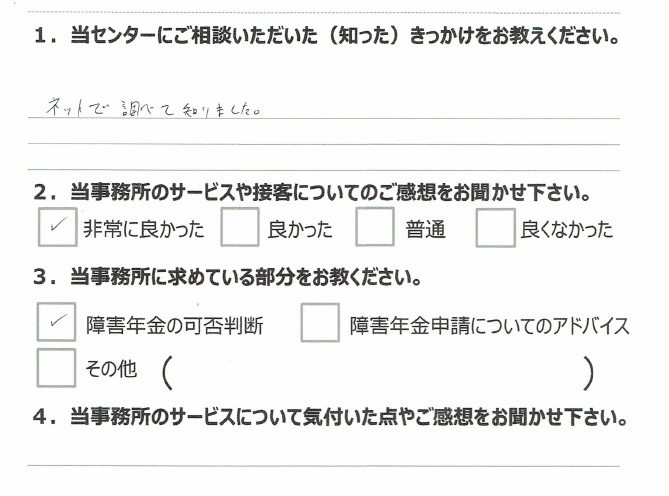 アンケート うつ病 浜松市 中区30代男性